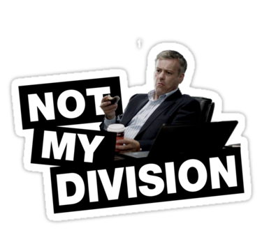 Not Our Division Patch Lestrade Patch Sherlock Patch Not My Division Patch
