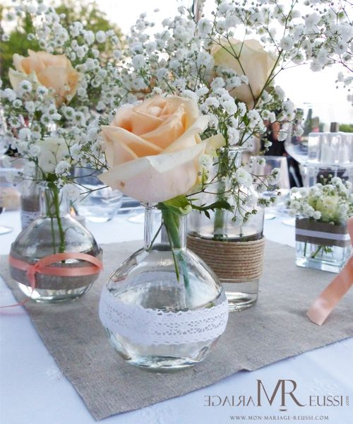 Vase Boh Me Chic En Centre De Table Pinterest Mariage And Wedding