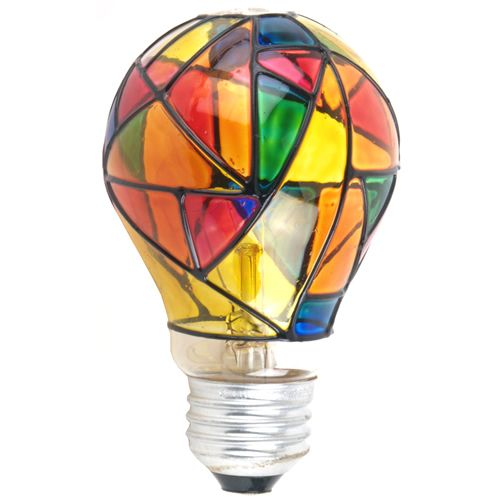 Ge Electric Stained Glass Light Bulb 25w Light Bulb Art Light Bulb Stained Glass Light