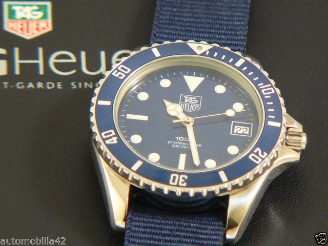 Rare TAG Heuer 1000 Submariner Man Blue edition with a ...