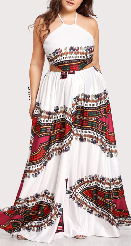 Ornate print lace up backless dress us fashion pinterest