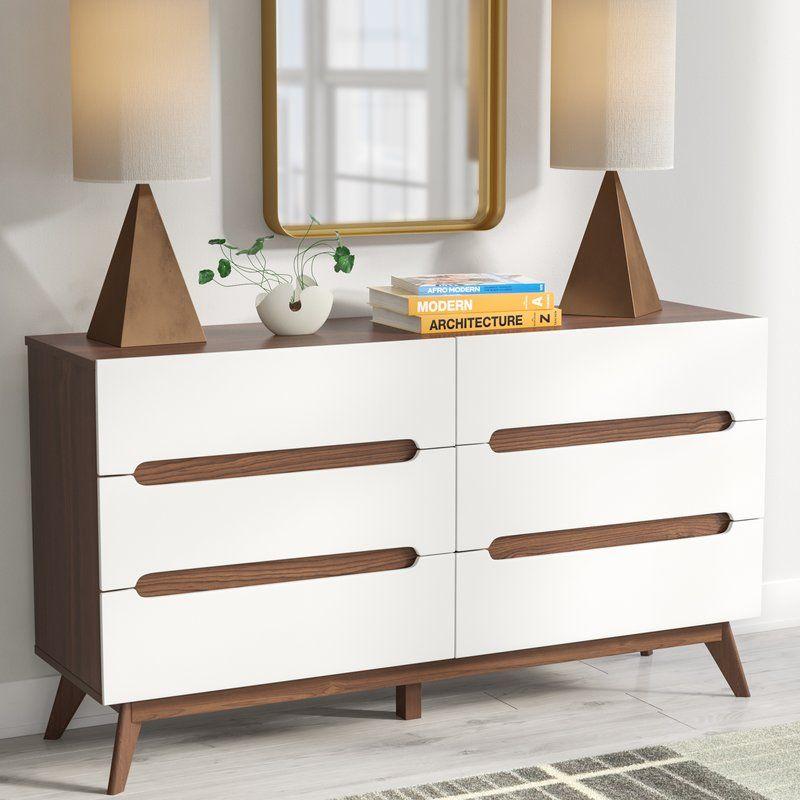 Best Cravens 6 Drawer Double Dresser Small Dresser Double 400 x 300