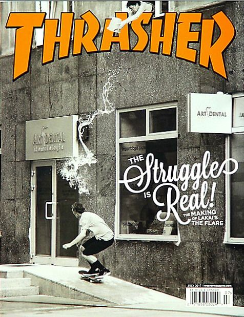 0955624340 THRASHER Magazine July 2017 RICK HOWARD of The Flair by Lakai