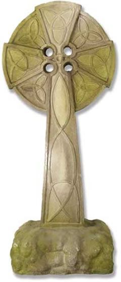 Celtic Cross Outdoor Religious Garden Statue Statuary Made Of Faux Concrete Stone Available In Ten Friendly Finishes View The Entire Collection