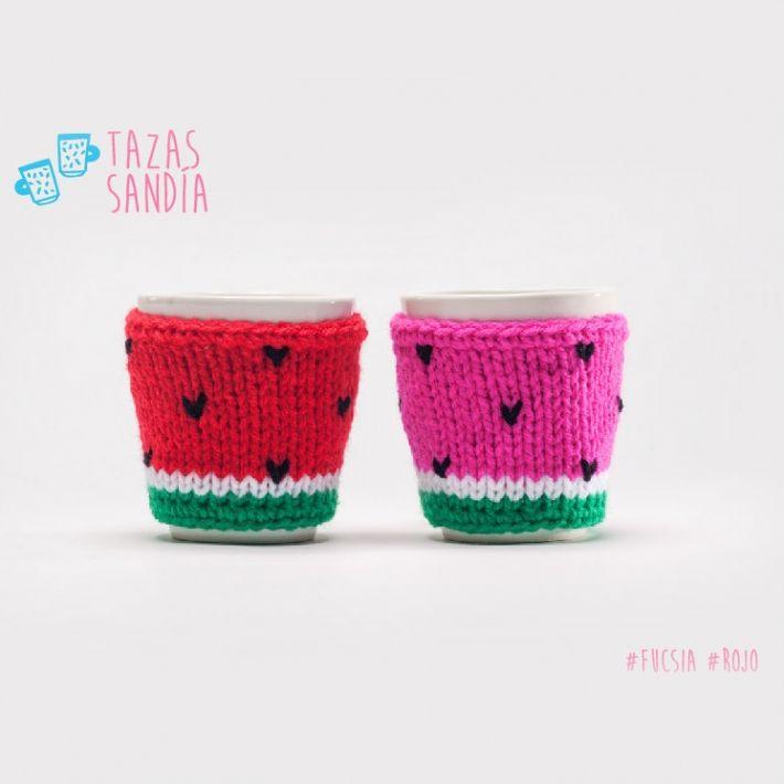 Qué Monono - Taza Sandia | Tazas y mates crochet | Pinterest ...