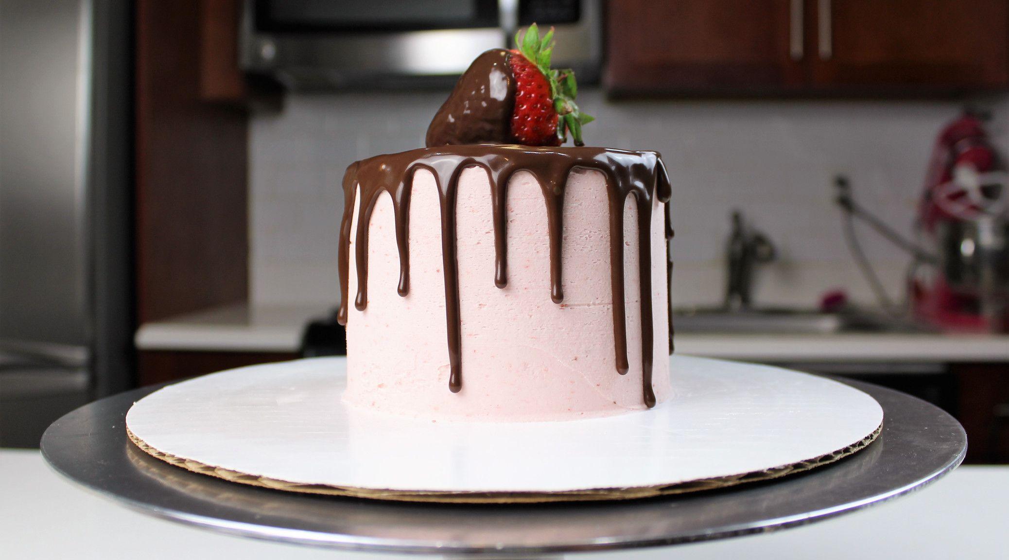 Chocolate covered strawberry cake chocolate covered