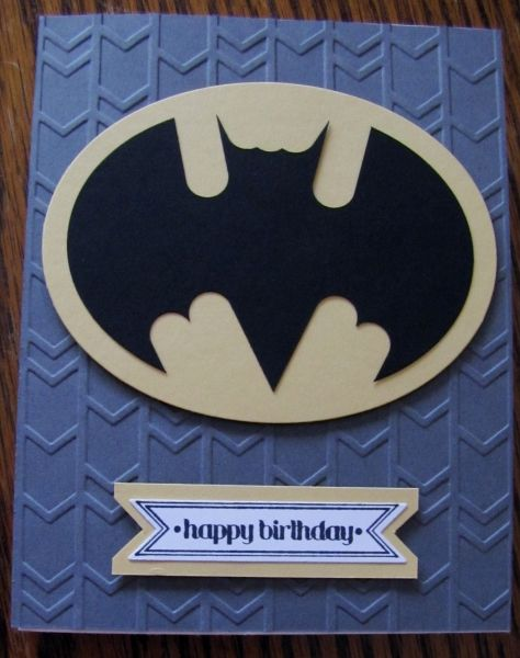 Batman Happy Birthday by Pam Roberts, I cased the Batman - it was so easy - Oval Framelits and the Word Window Punch.