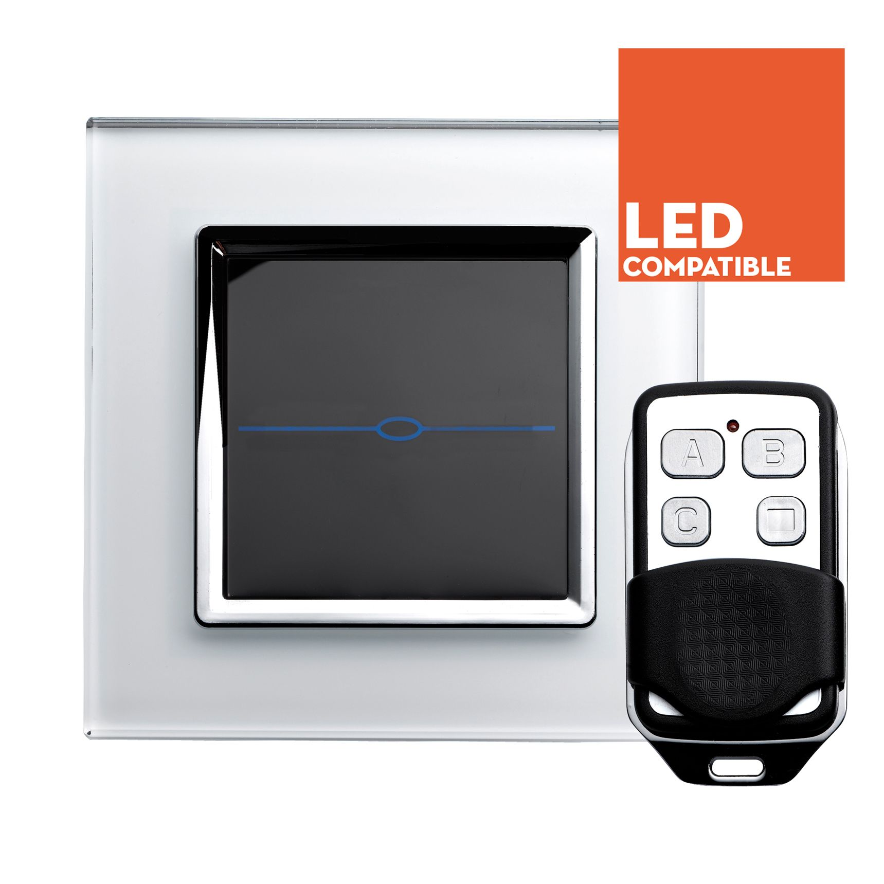 RTS2020DL LED Dimmer Touch & Remote Light Switch 1 Gang White | home ...