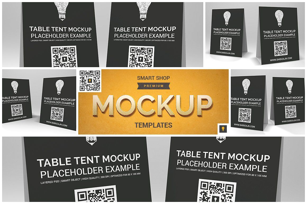 Table Tent Mockup Table tents, Mockup, Business card logo