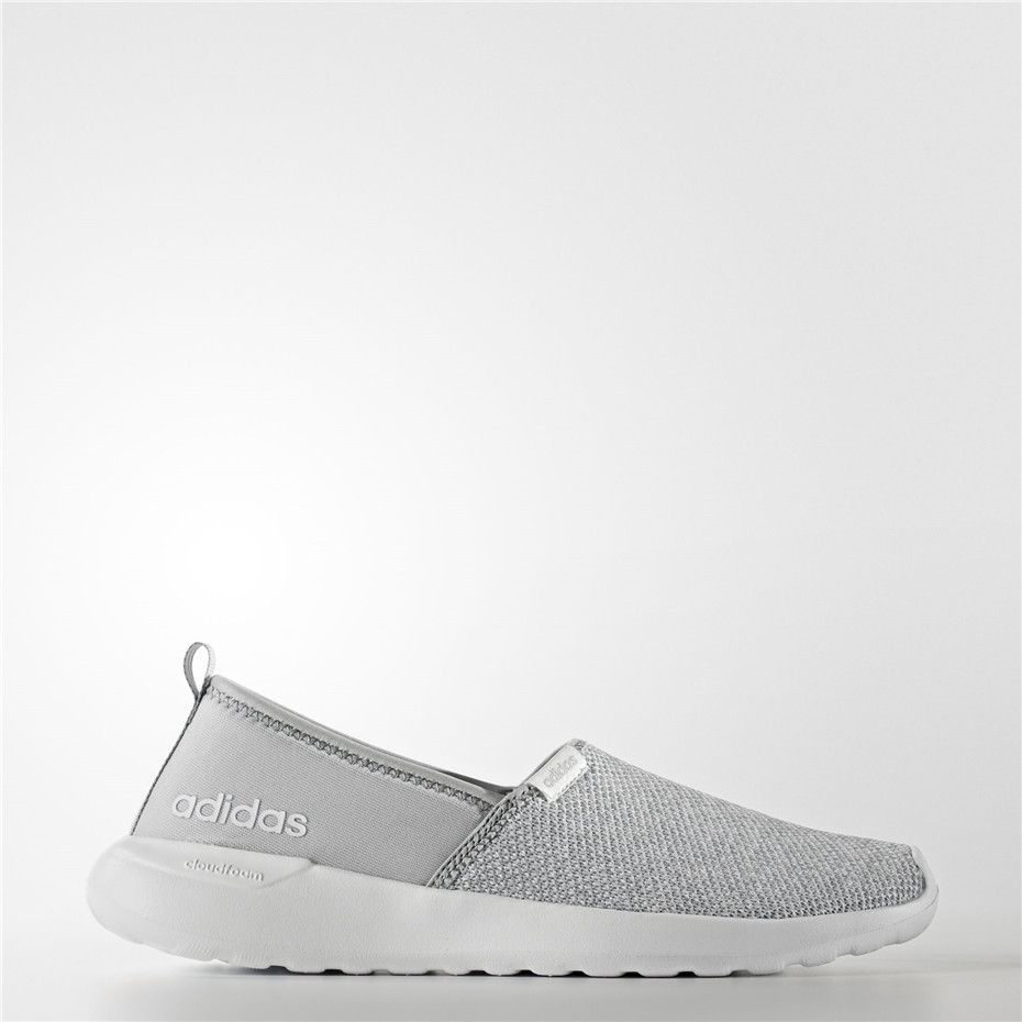 570df38bbdc1 Adidas Cloudfoam Lite Racer Slip-On Shoes (Clear Onix   Clear Onix    Running White Ftw)