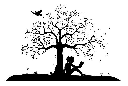 Clip Art Of A Sitting Girl Clip Art Vector Images Amp