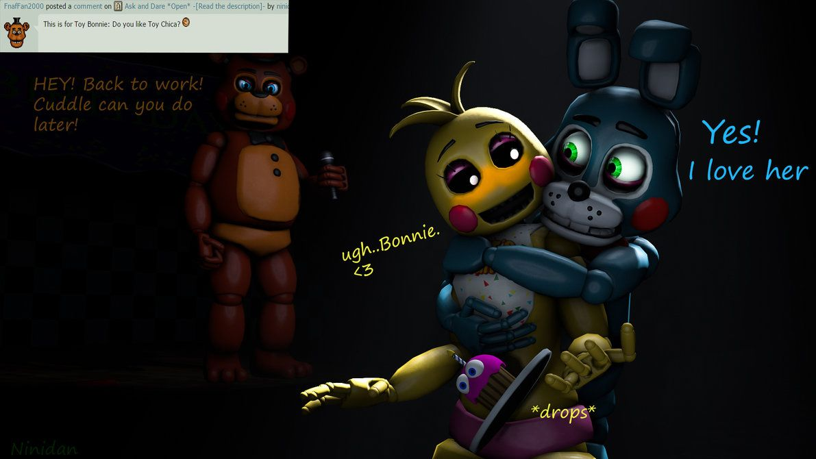 Toy chica x fem mangle preview undertale plans by red - Awnser 1 T Bonnies Feelings For T Chica Sfm By