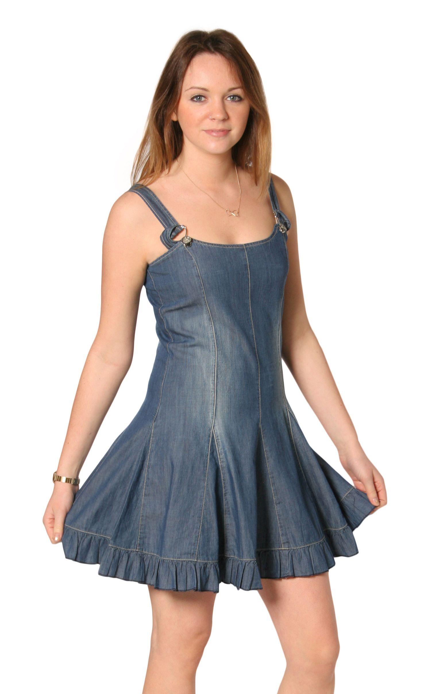 253ccd77ff3 Pleated Denim Dress