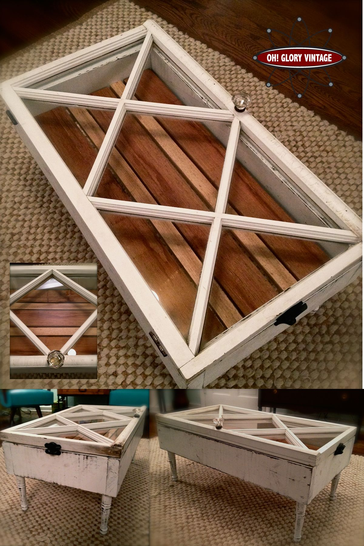White Diamond Coffee table from Oh Glory Vintage Coffee table