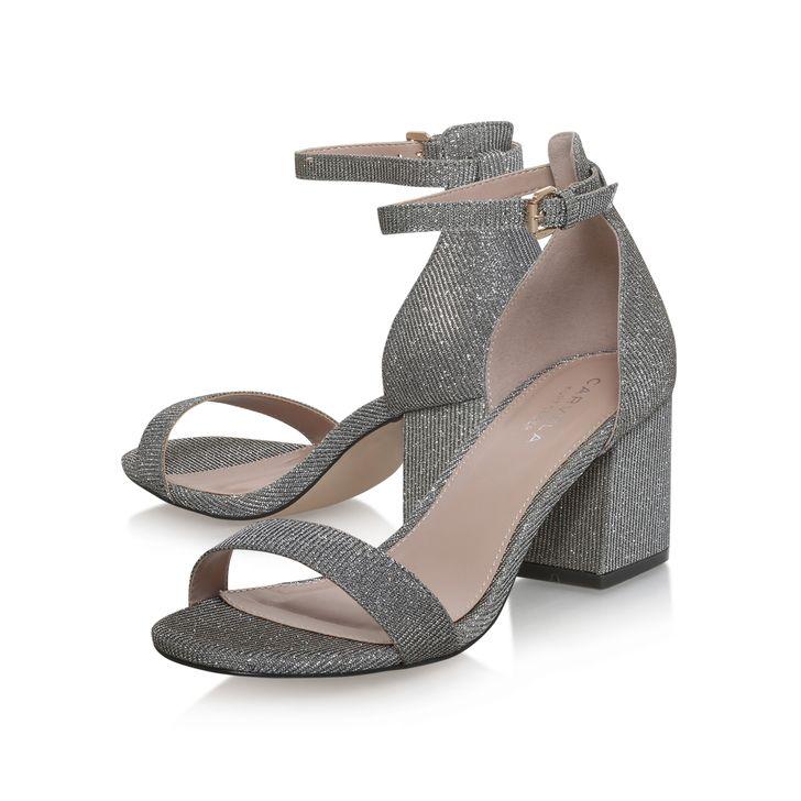 5492c39bbb1 Loop Black Mid Heel Sandals By Carvela Kurt Geiger