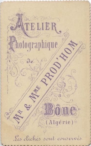 Atelier Photographique Mr Mme Prodhom Bone Algerie Photo C EmmaD Photographie