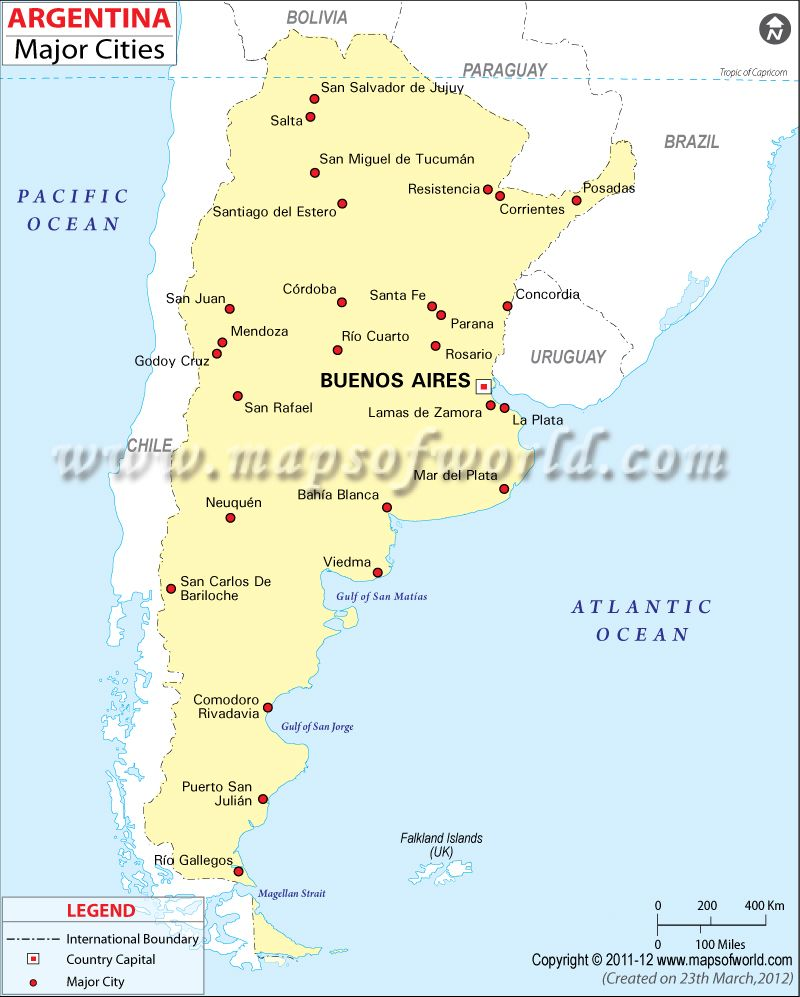 Cities in Argentina South America exc Brazil Pinterest