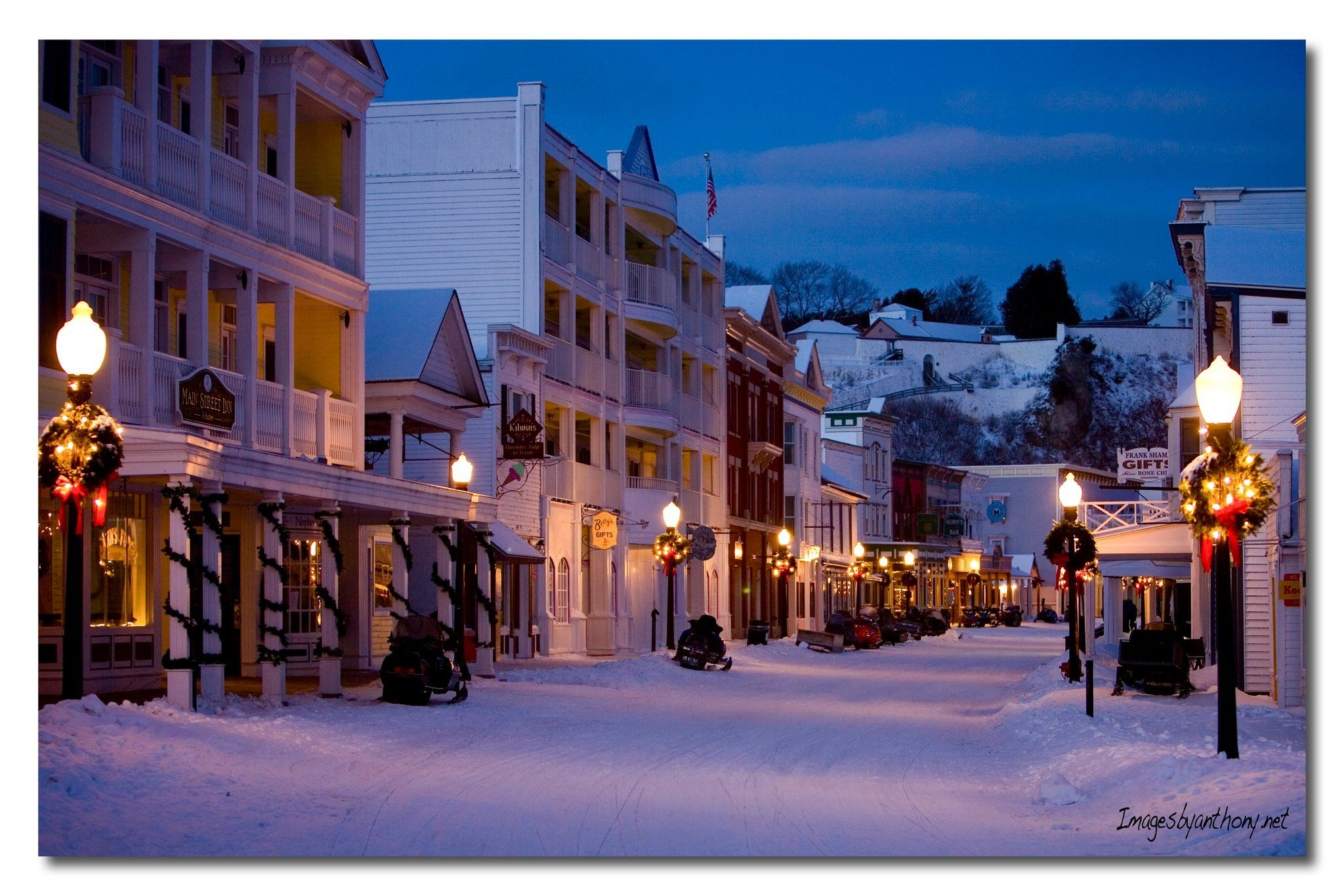 Isla Mackinac, Michigan en navidad