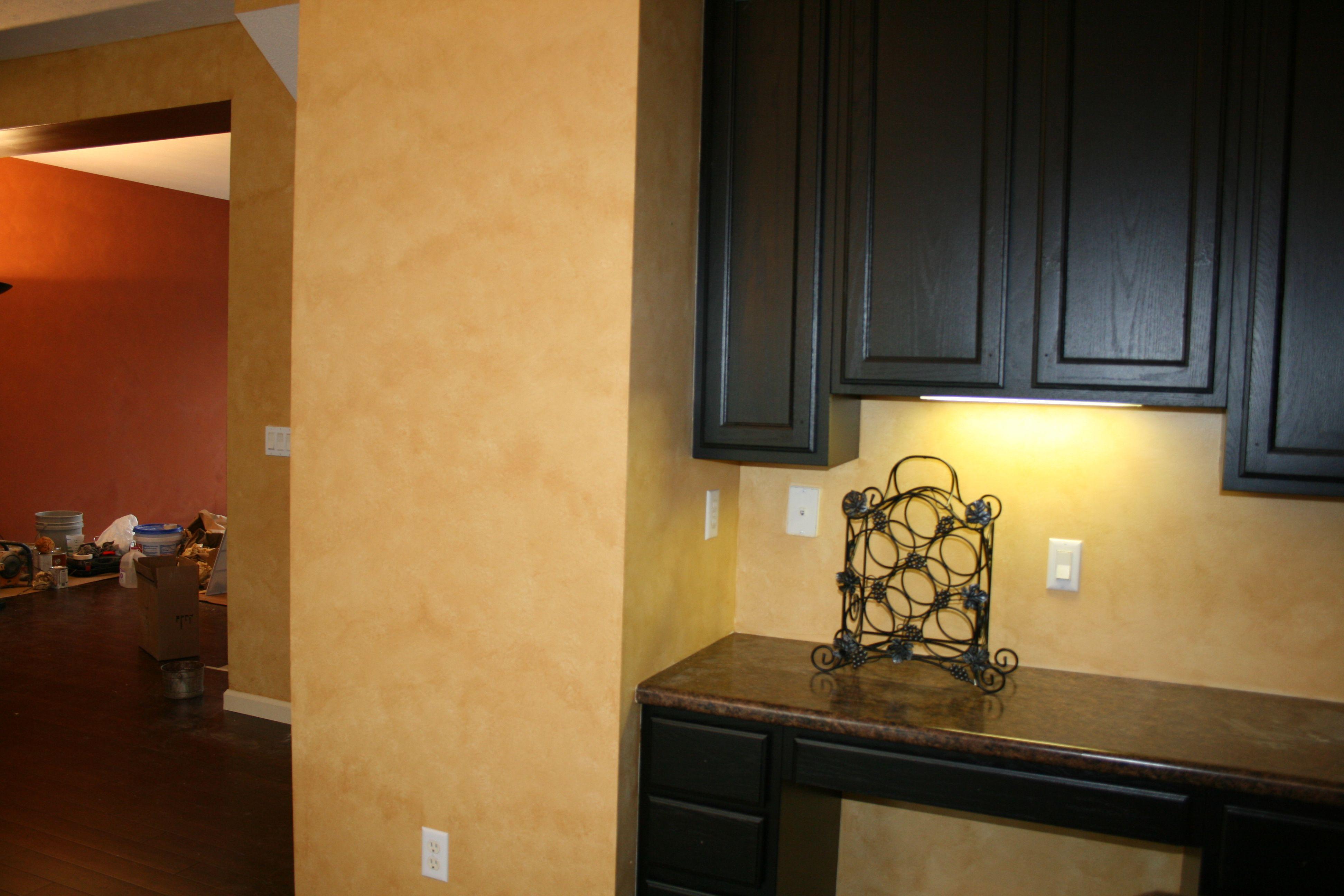 Great Soft Yellow Kitchen Wall Painted Matching With Espresso ...
