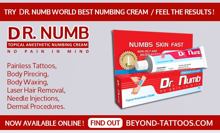 Try Dr Numb World Best Numbing Cream And Feel The Results Buy Now Visit Our Webstore Beyond Tottoos Com Numbing Cream Body Waxing Painless Tattoo