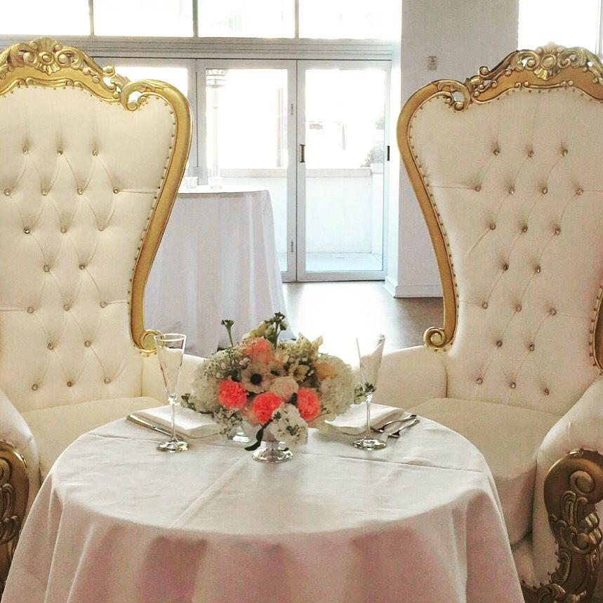 King Amp Queen Throne Chairs For Sweetheart Table Luxury