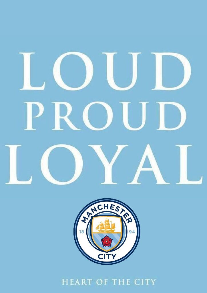 Loud Proud Loyal 2016 Club Badge Mcfc Manchester