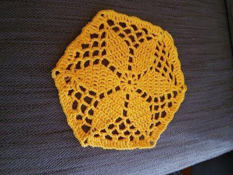 Hexagon Blumen Deckchen Klein Häkeln Anleitung Youtube Häkeln