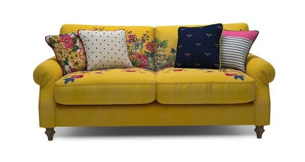 Cambridge Velvet 3 Seater Sofa Cambridge Plain And Floral