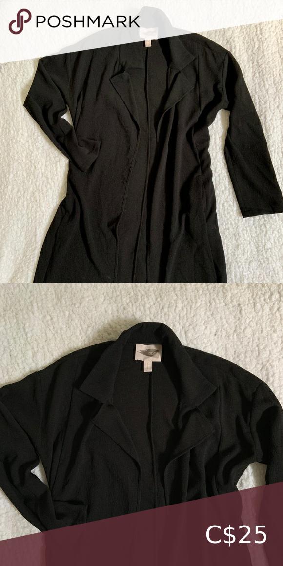 Long black lightweight overcoat