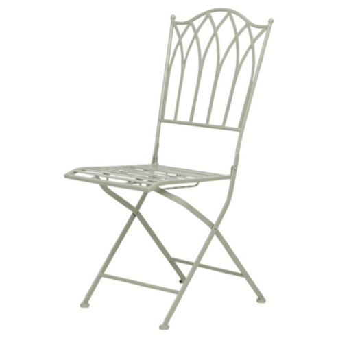 Ornate Metal Folding Bistro Chair