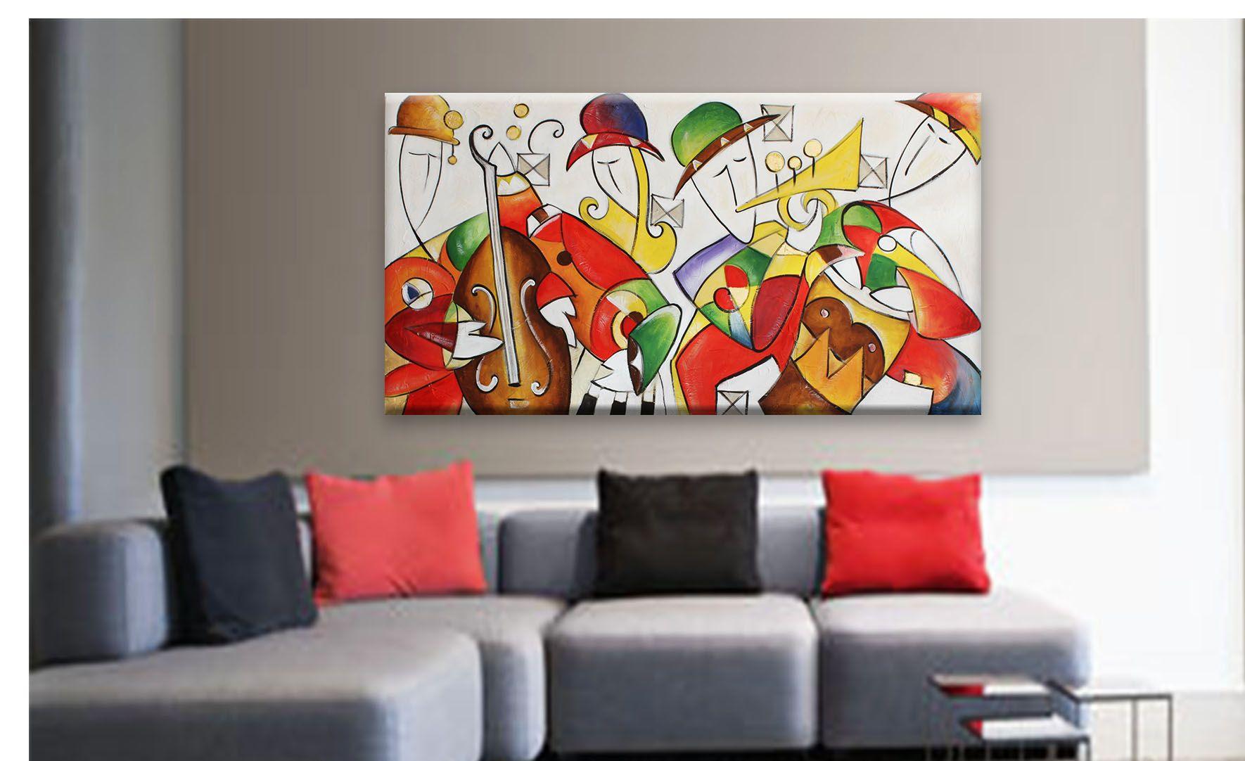 Quadri astratti moderni quadri dipinti moderni colorati - Dipinti camera da letto ...