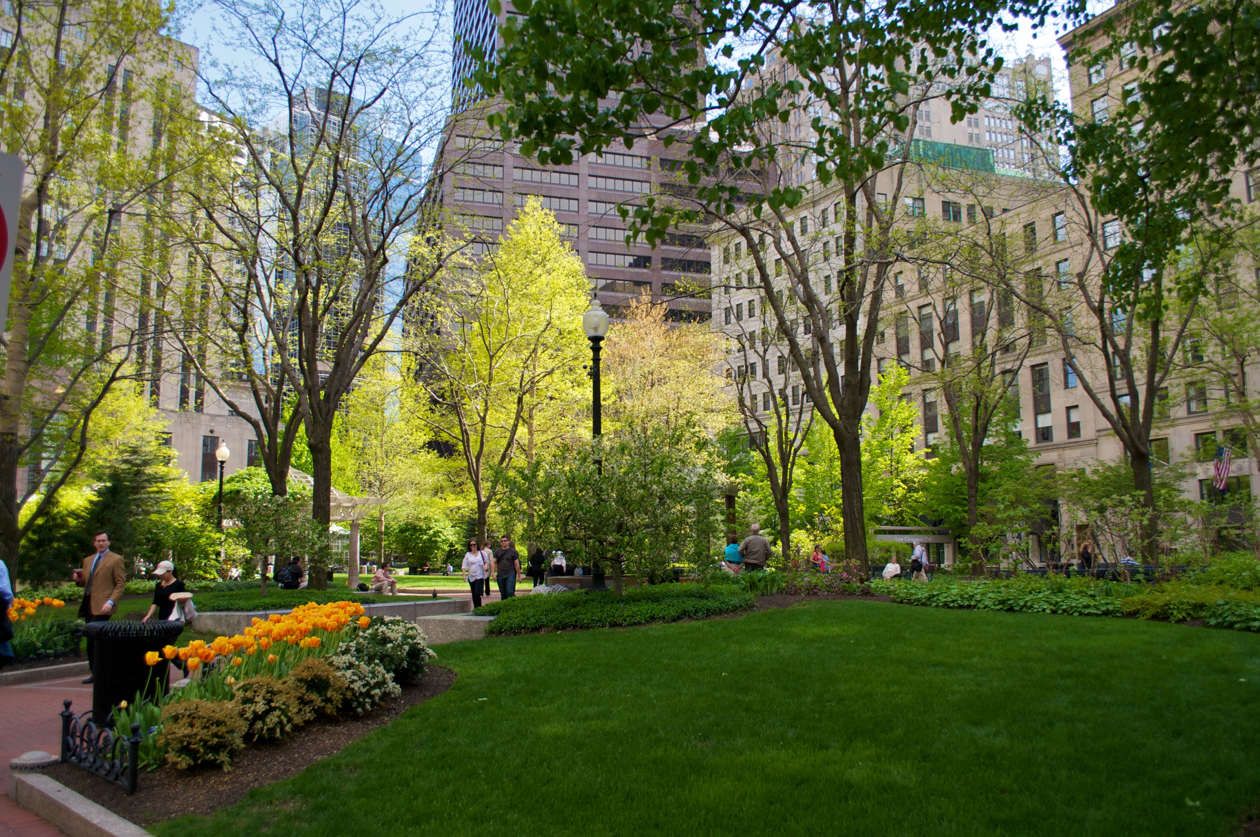 2013 Great Places in America: Public Spaces – Norman B. Leventhal Park, Boston, Massachusetts • The park features a wide variety of flora, including a rare specimen of tree from Harvard's Arnold Arboretum. Photo by Flickr user Jonathan Hinkle (hynkle) (CC BY-NC-SA 2.0). http://www.planning.org/greatplaces