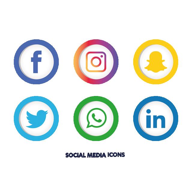 Social Media Icons Set, Social Media Icons, Social Media