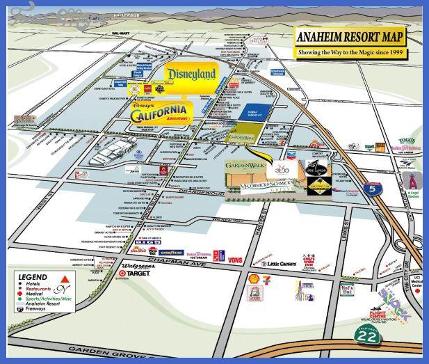 nice Anaheim Map Tours Maps Pinterest