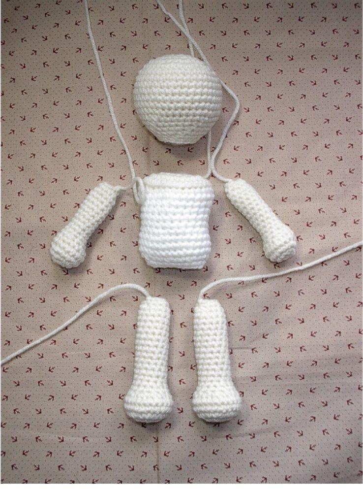 cuerpo basico de muñeca a ganchillo | muñecas amigurumis patrones ...