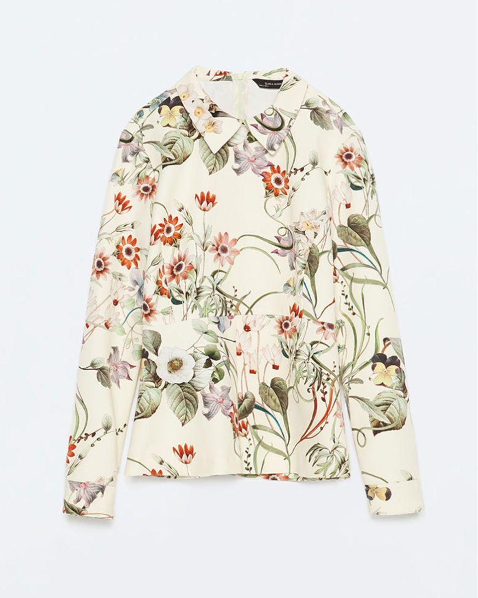nueva colección comprar los recién llegados Zara Printed Peplum Top | LuckyShops | Gotta have it! | Zara ...