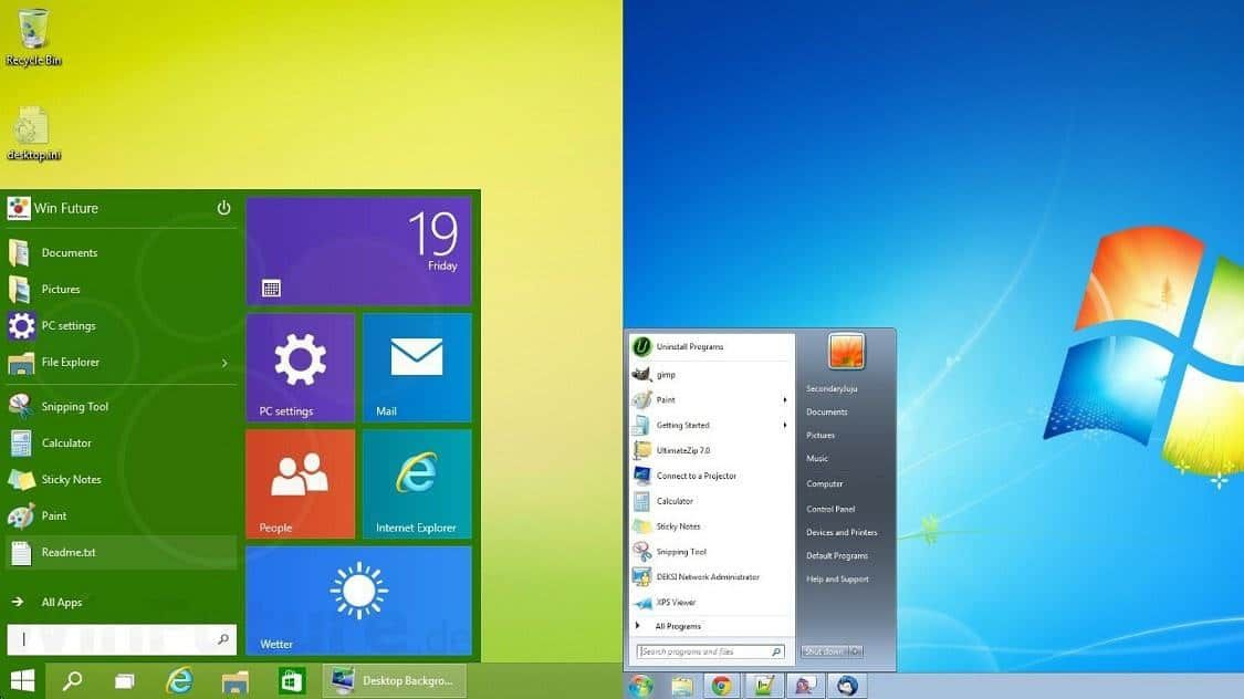 Windows 7 Vs Windows 8 Comparison Old Meets New New Operating System Windows 8 Windows