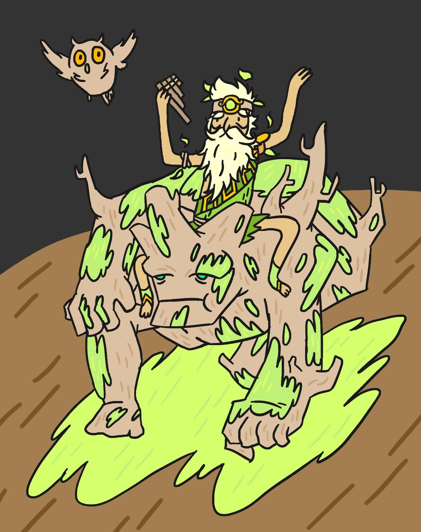 sylvanus keeper of the wild roman god from smite