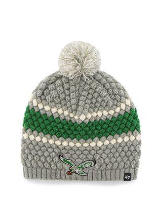 3c2e1c7ac31af  47 Philadelphia Eagles Grey Leslie Knit Hat.