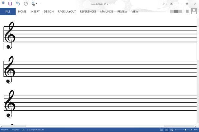 How Do I Make A Music Staff In Microsoft Word Techwalla Blank Sheet Music Sheet Music Guitar Sheet Music
