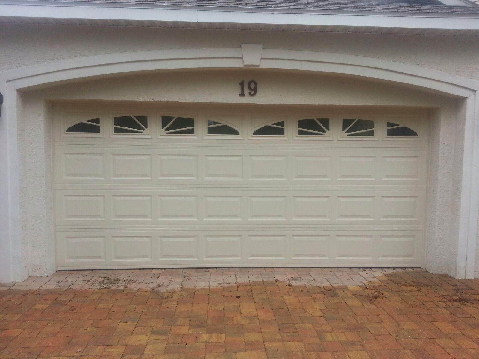 Amarr Stratford Series Short Panel Garage Door With Sunray Inserts  Installed In Jacksonville #amarr