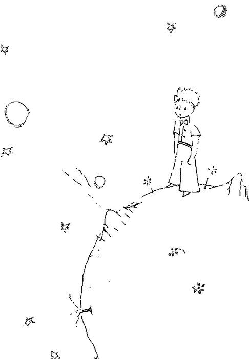Coloring page The Little Prince by Saint-Exupery | summer camp 2016 ...