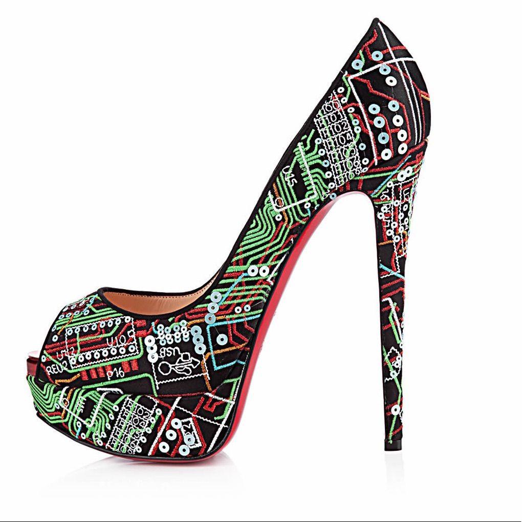 0c96bd3fabc Christian Louboutin Shoes | Christian Louboutin | Black Embroidered ...