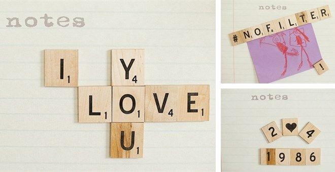 2 Inch Wood Letter Tile Magnets Wood Letters Lettering Wood