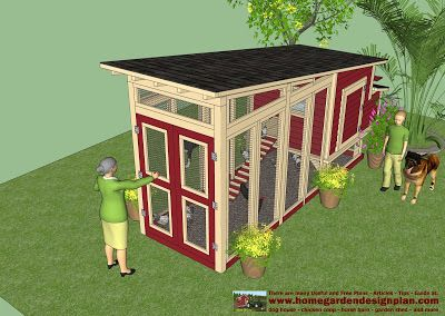 This for my future hens home garden plans: M100 - Chicken Coop Plans Construction - Chicken C...