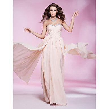 Floor-length Sweetheart Chiffon Evening Dress With Criss-Cross ...