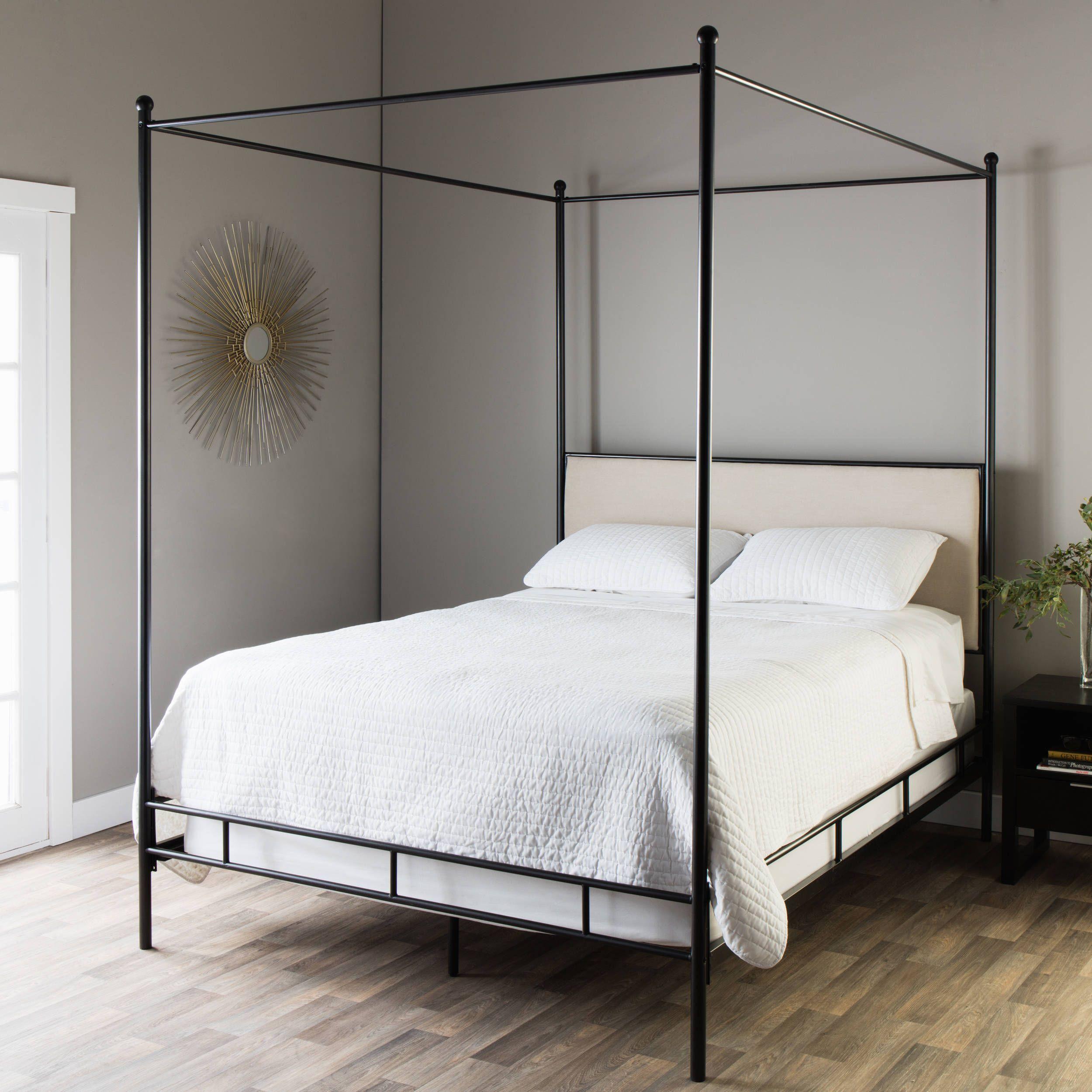 Jasper Laine Lauren King Metal Canopy Bed, Brown   Products
