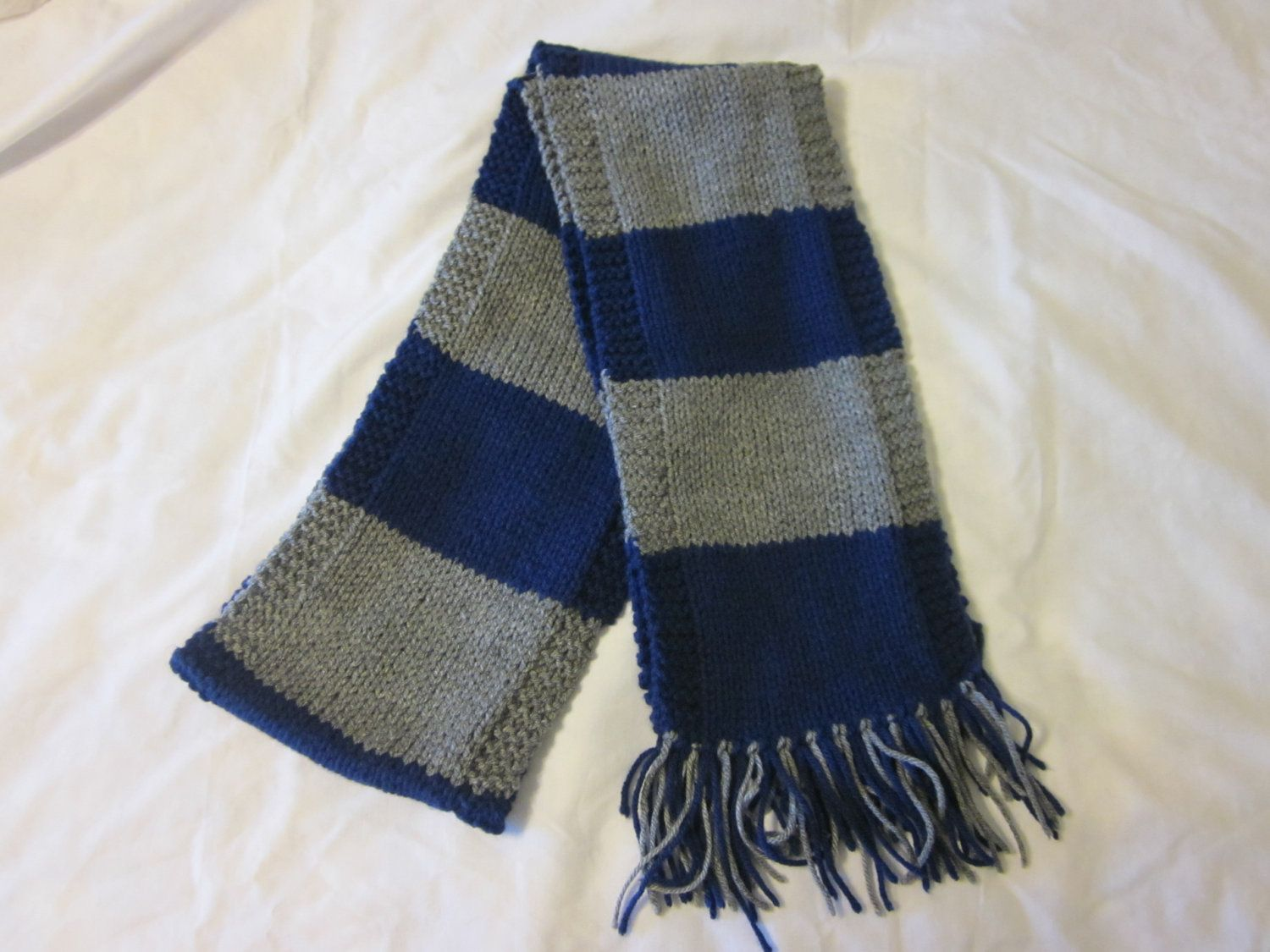 First Year Harry Potter Scarf Ravenclaw School Colors Knit Scarf ...