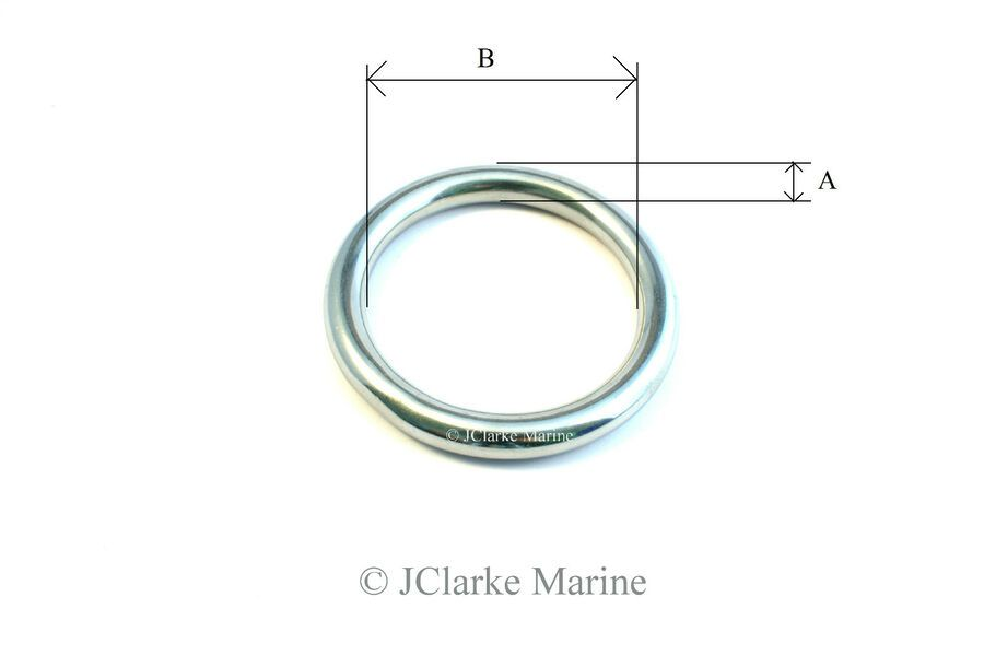 Details About O Dee D Ring Rings A4 316 Stainless Steel Polished
