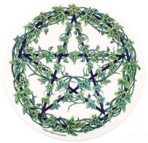 Wiccan Symbols For Protection   Ivy Covered Pentagram Protection